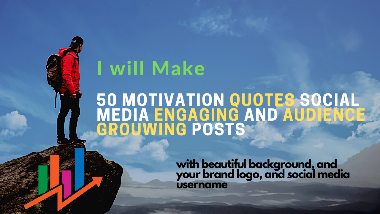 Make 50 Motivational quotes post for your Social media