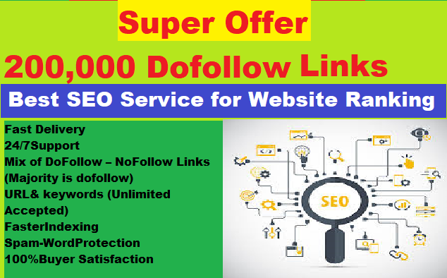 High Authority 200,000 GSA Dofollow SEO Backlinks