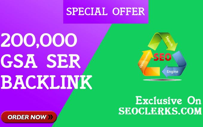 200,000 Verified GSA SEO Backlinks for website ranking on google