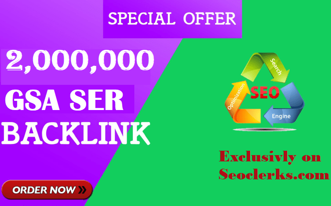 I will create Verified 2 Million GSA SEO Backlinks for Website ranking