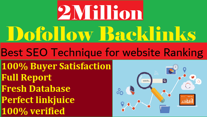 I will create Verified 2 Million GSA SEO Backlinks for Website ranking