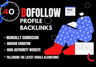 40 high DA 80+ profile backlinks manually