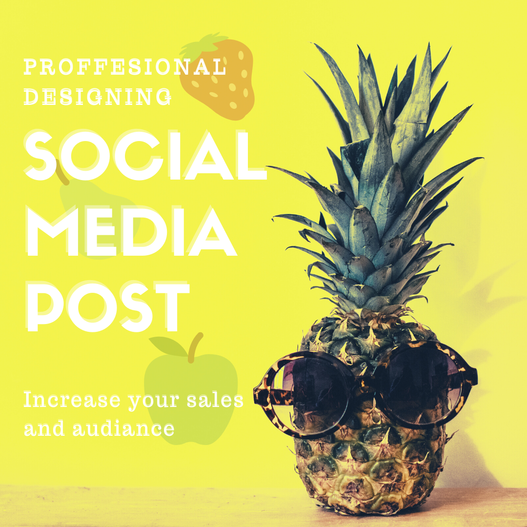 I will design eye catchy 5 social media post or animated post
