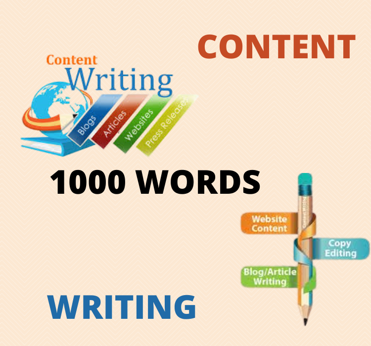 I will write 1,000 words of content