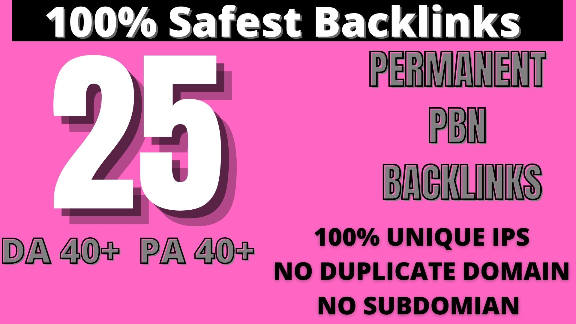 Create 25 HOMEPAGE PBN Backlinks 25 Dofollow & Permanent Links With High DA/PA/CF/TF web2.0