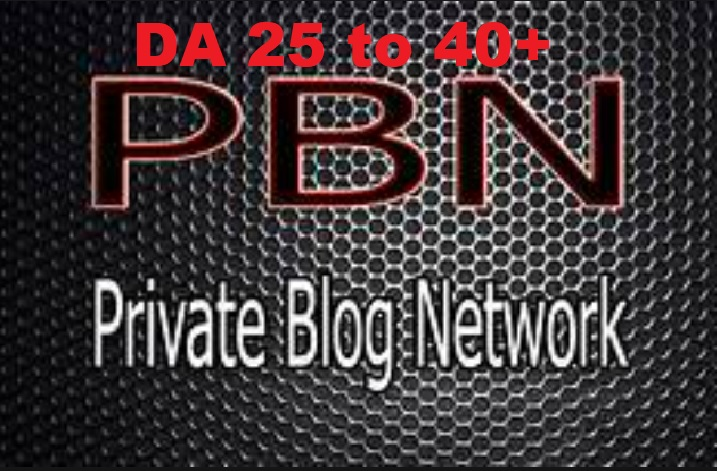 Create 5 Homepage Permanent PBN Backlinks DA 25+ to 40+ to High Quality Dofollow Backlinks