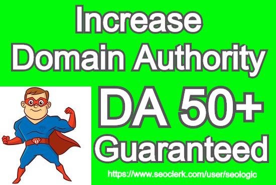 increase website domain authority DA 50