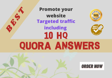 I will promote your website by HQ 10 Quora Answers