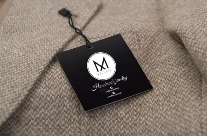 I will design clothing labels or tags