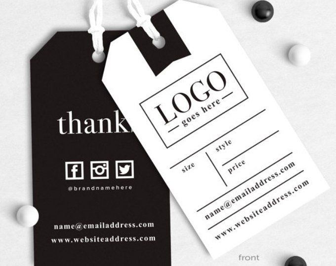 i made the business tags and labels