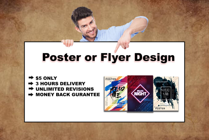 I will design banner, poster or flyer