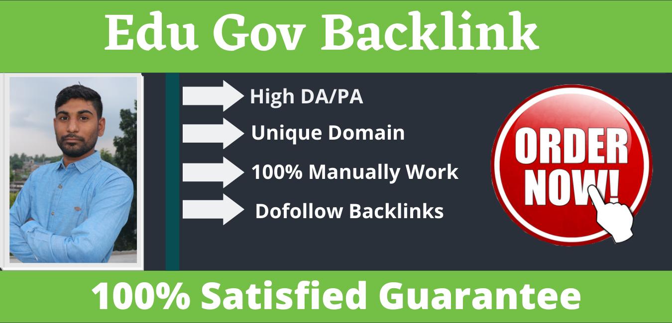 Manually create 10+ Edu Gov Backlink