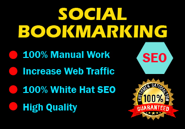 Manual 20 Social Bookmarking High authority website permanent backlink unique link building