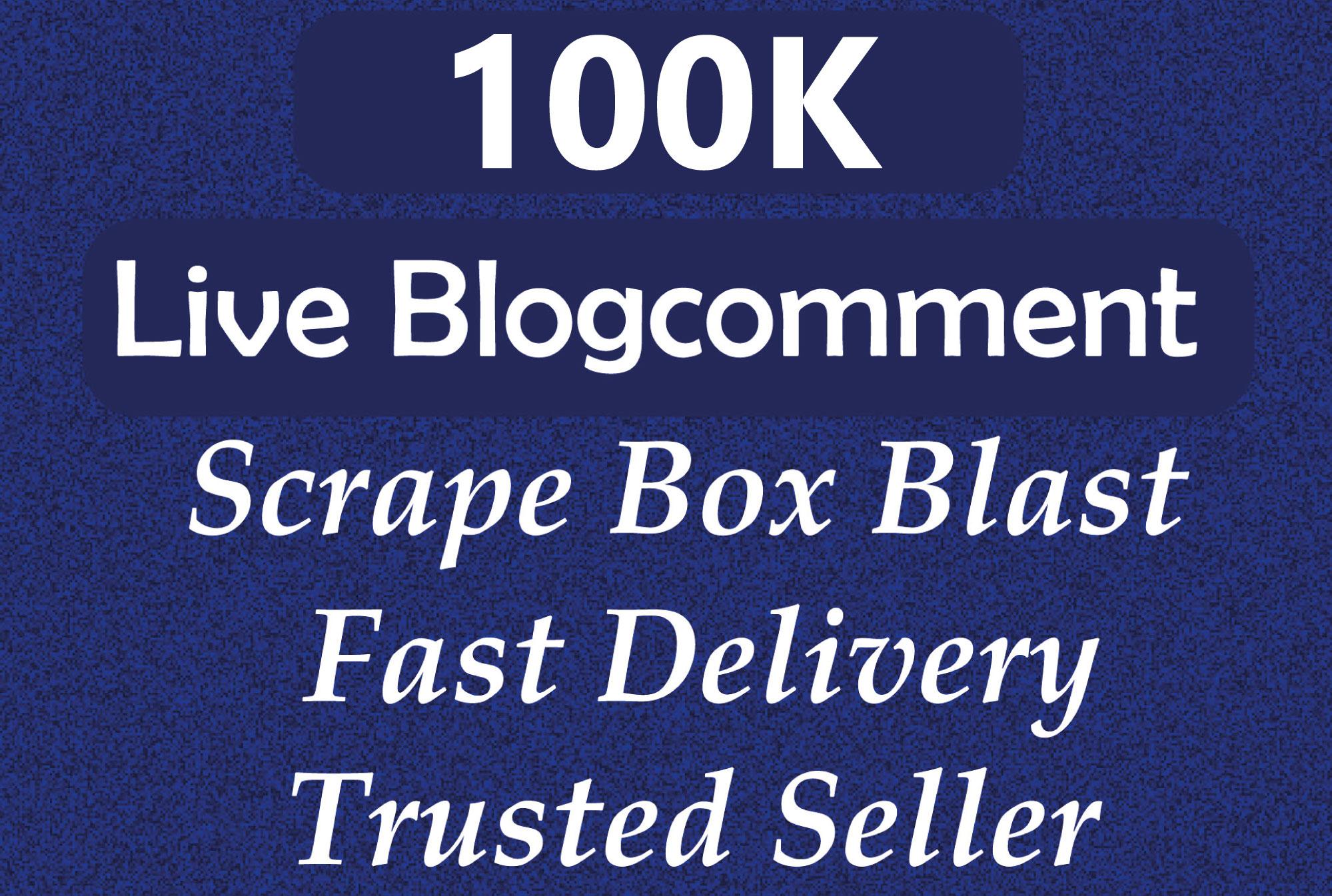 I will do blast 100k blog comment backlinks in a 48 hour