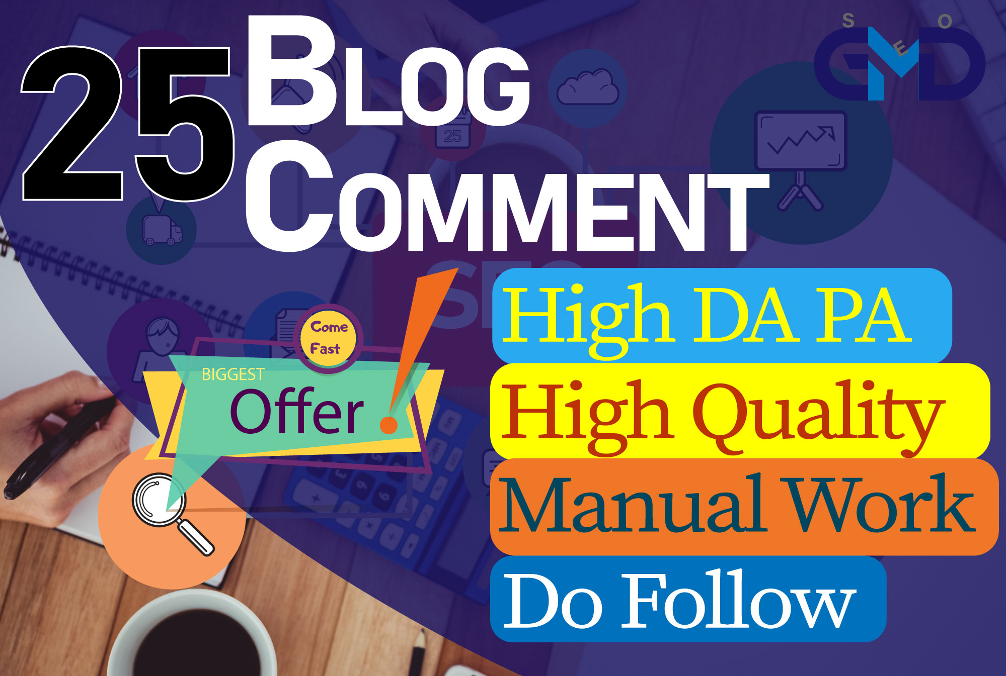 I will provide 25 high quality dofollow blog comment seo backlink