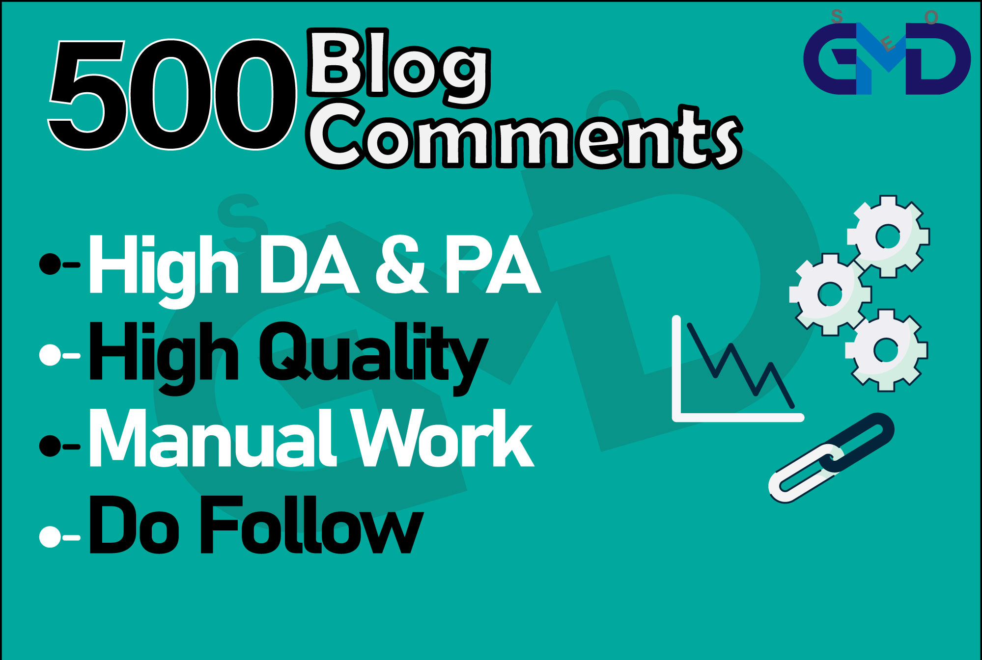 I will provide 500 dofollow blog comment authority seo backlink