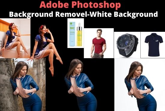 I will create 5 photos high quality white background or remove background by adobe photoshop