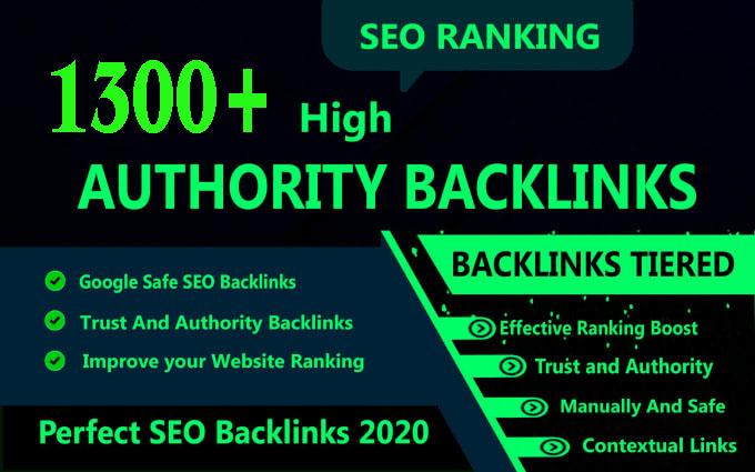 I will build 1300+ high Authority SEO service backlink