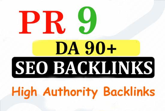 Create 1200 pr9 high authority SEO backlinks
