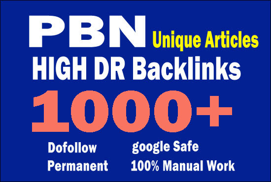 I will give permanent homepage 1000+ pbn backlinks for seo
