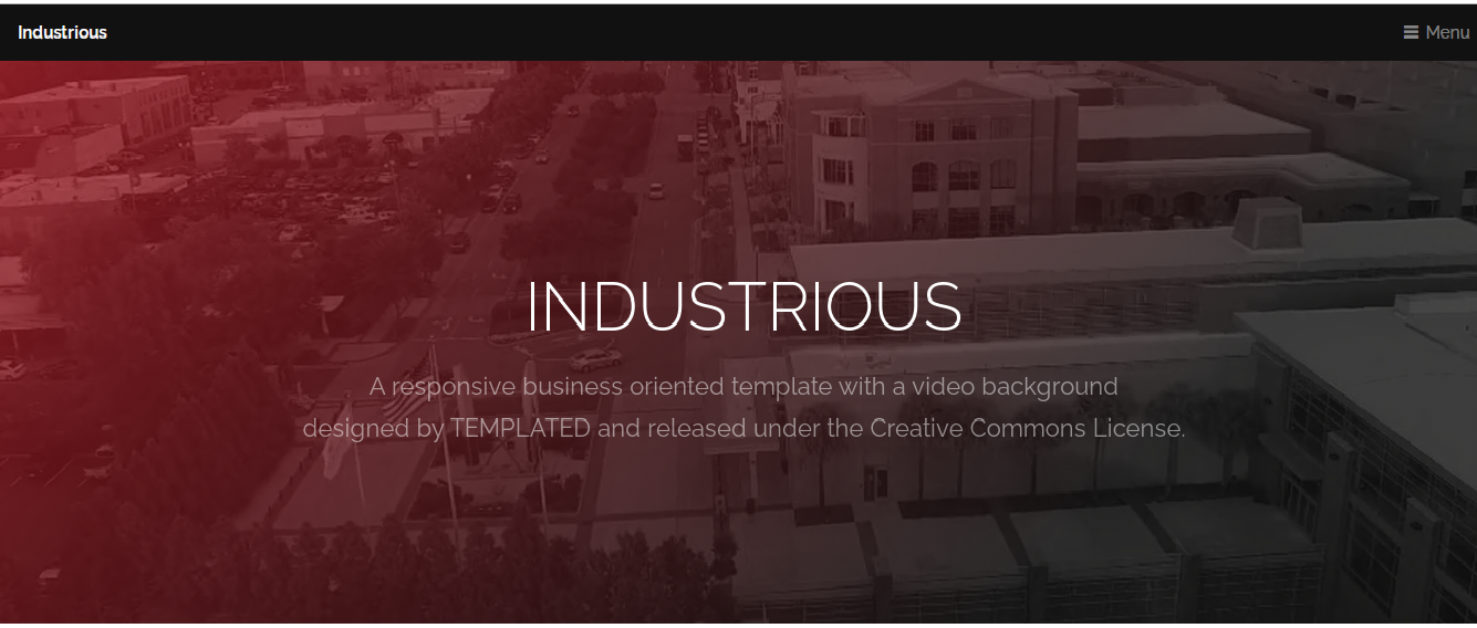 Responsive Template for Industry Business