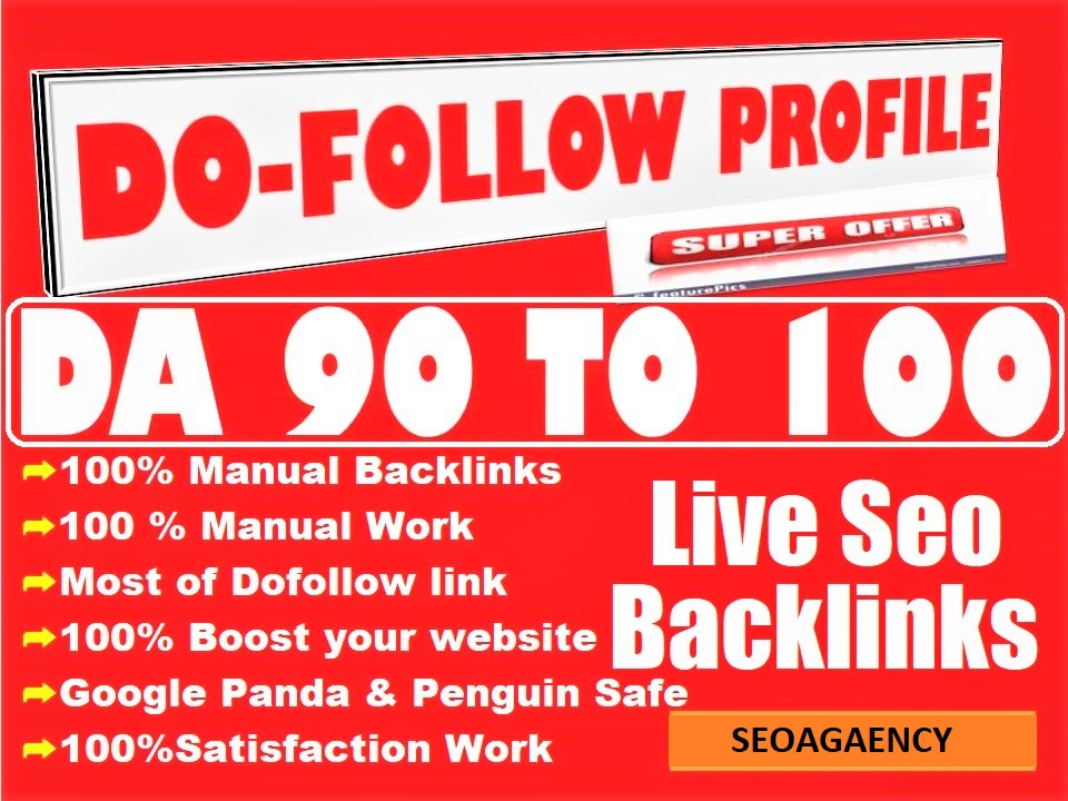 Do 30 Manual Pr9 High Authority Dofollow Profile Backlinks Seo Link Building For Google Top Ranking