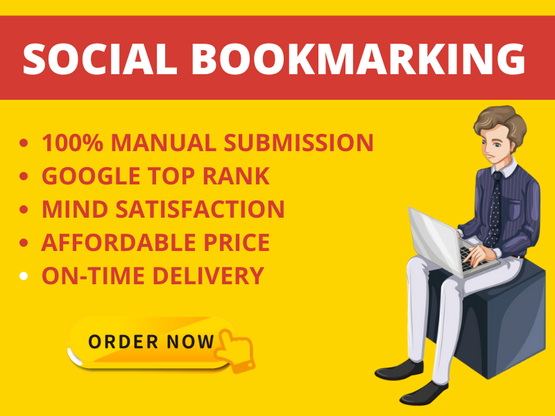 I will create manual bookmarking links from top 20 Social bookmarking sites