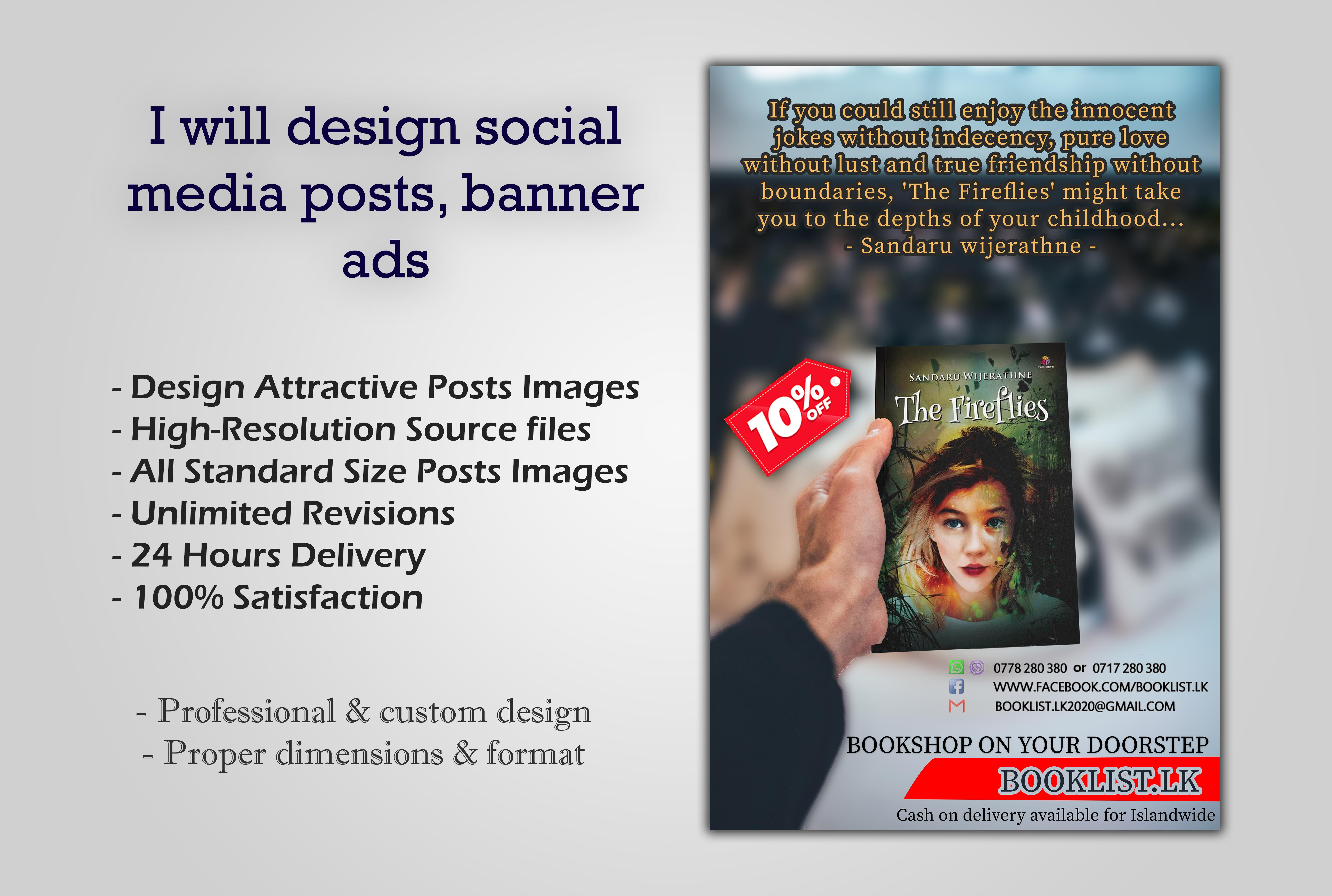 I will design your social media images,  posts