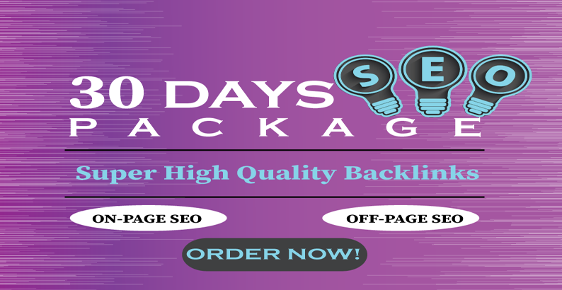 I will do monthly SEO service with high quality back links