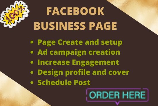 I will create and setup Facebook Business page and optimized