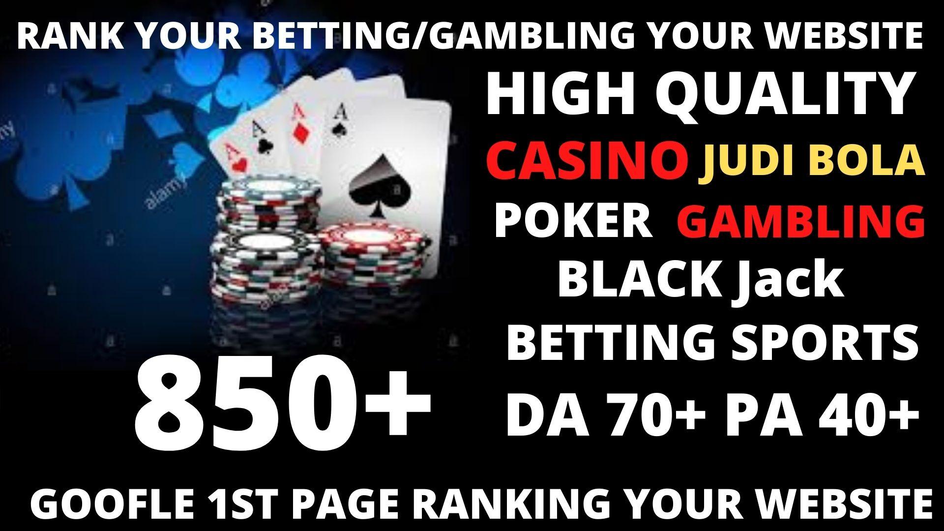 Permanent850 powerful Casino,  Gambling,  Poker,  Sports High Quality Web2.0 Backlinks