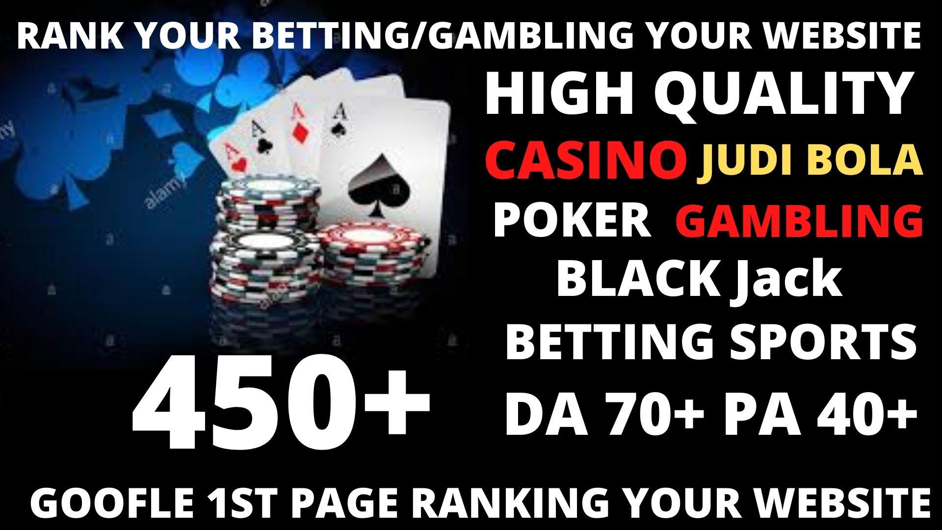Permanent 450 powerful Casino,  Gambling,  Poker,  Sports High Quality Web2.0 Backlinks