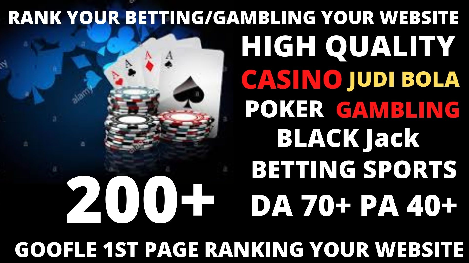Permanent 200 powerful Casino,  Gambling,  Poker,  Sports High Quality Web2.0 Backlinks