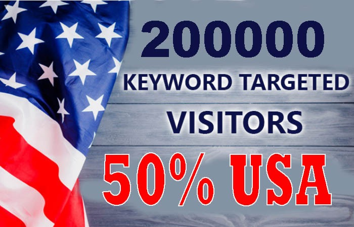 200,000 real keyword targeted USA web traffic to your website