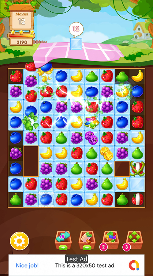 Fruit Mania - Match 3 Game Unity Template