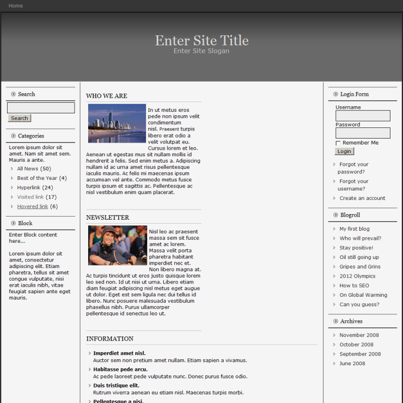 Website templates in various format and CMS.