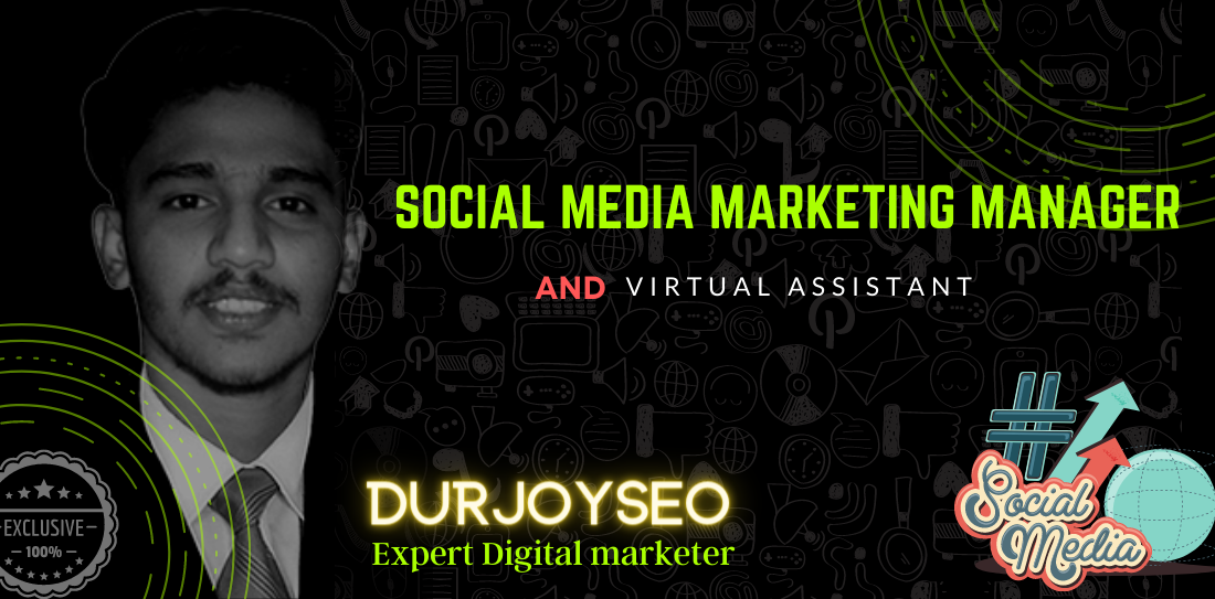 I will be your professional social media marketing manager and virtual assistance