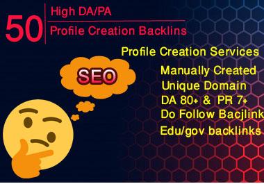 I will do 50+ DO follow backlink manually on high DA PA sites