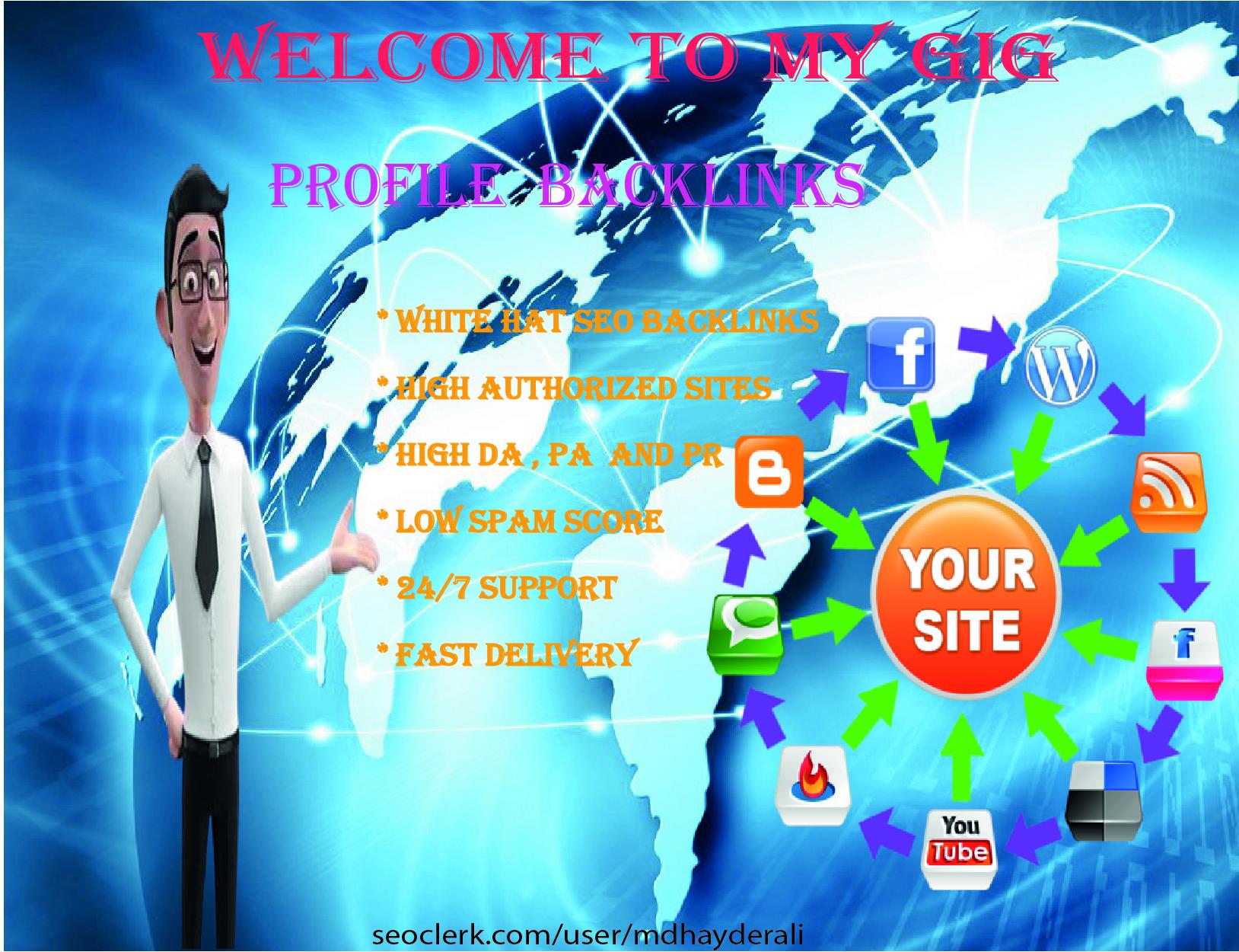 I will do create excellent 10 high DA and PR profile