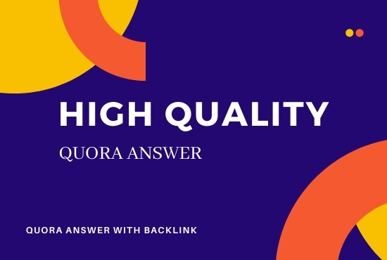 40 Quora answer with High Quality Backlinks