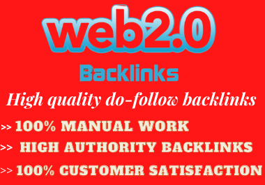 I will create 30+ High authority web 2.0 Backlinks