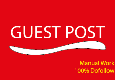 I Will Publish 5 Guest Posts seo backlink with Dofollow Backlinks on High Metrics DA,  TF,  CF Sites