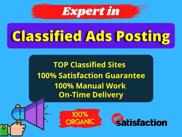 I will post your ads 50 free classified ads posting sites