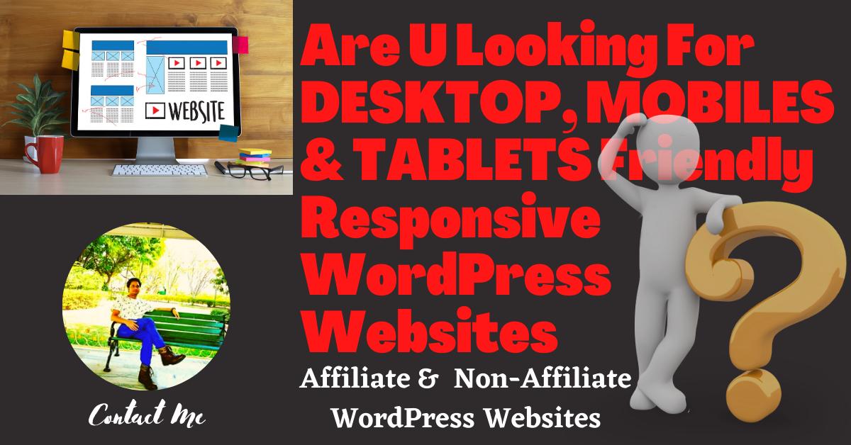 I will develop a Affiliate & Non Affiliate Professional WordPress Website