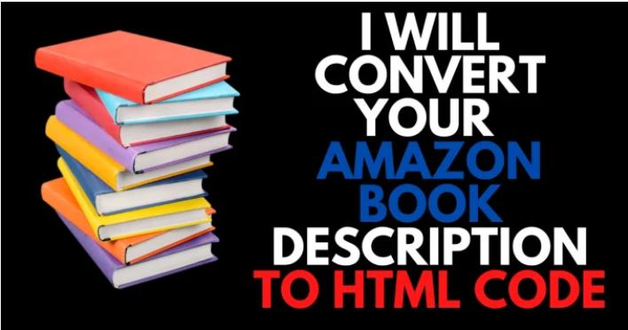 I will convert your Amazon KDP Book description to HTML code