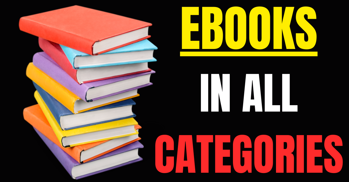 I Will Provide Ebooks In All Categories