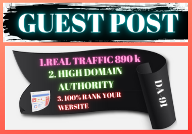 Write and Publish 10 Guest Posts on High Authority Website unique article backlink
