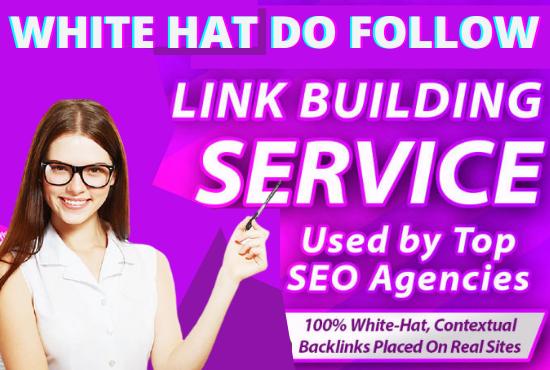 build SEO backlinks through high quality dofollow link building