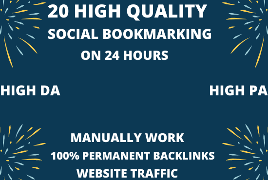 DO TOP 20 Social Bookmarking Links TO Boost your site ranking with in 24 hours