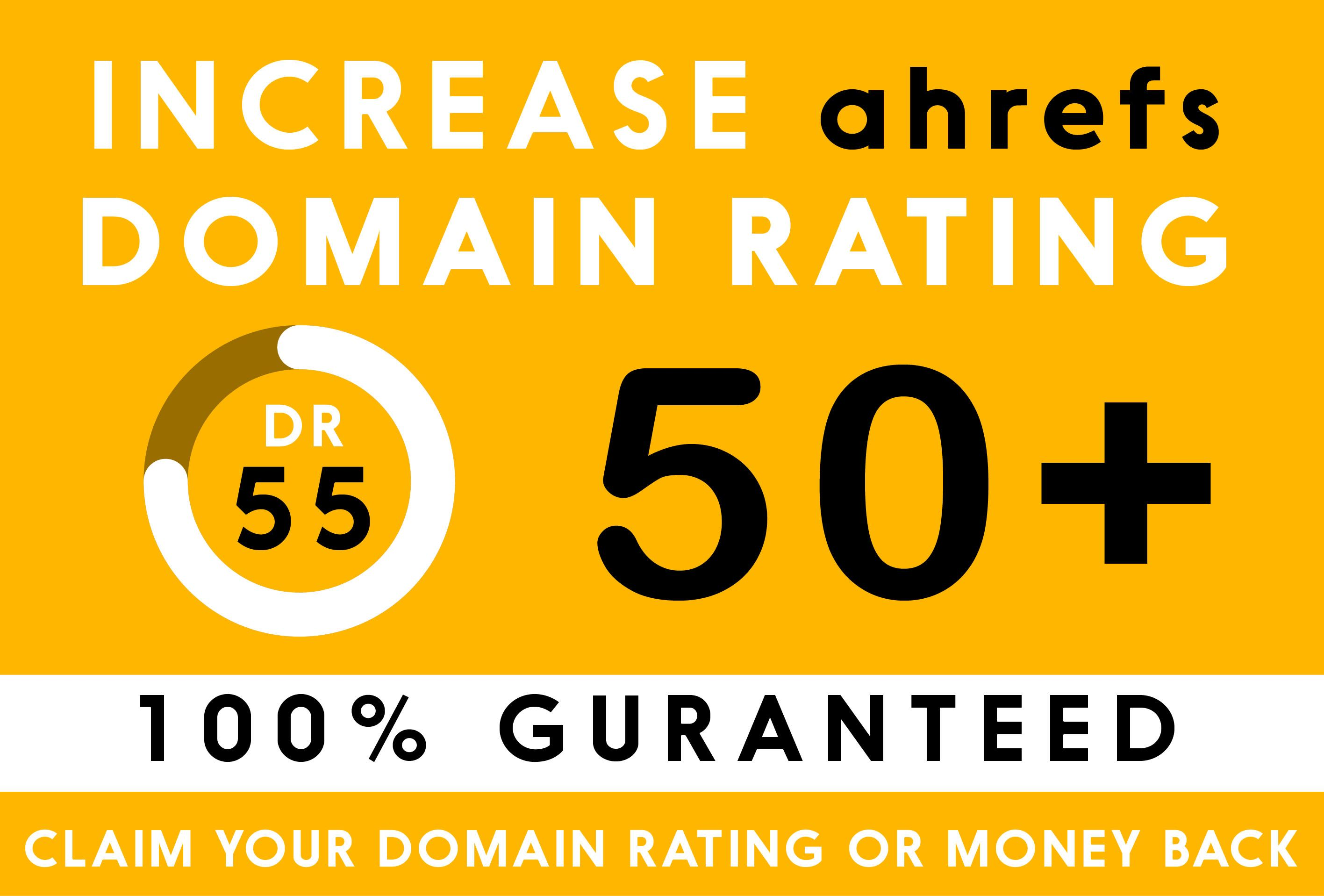 I will increase domain rating and increase ahrefs DR upto 60